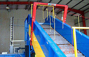 Safetech in use at a plastics recycling facility