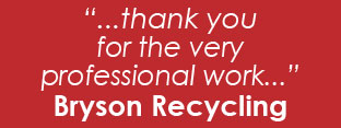 Testimonial from Bryson Recycling